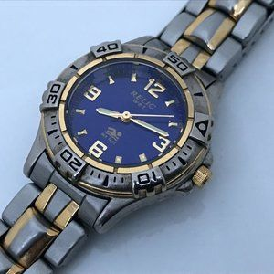 Relic Wet Watch Silver/Gold Tone Ladies Watch Blue